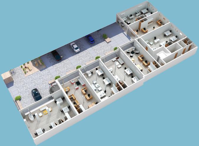 3D Floor Plans Plan Axonometric Plans Gallery